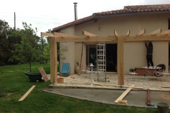 Chantier couverture terrasse